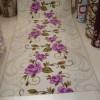 Çiçek Desenli Kaymaz Halı